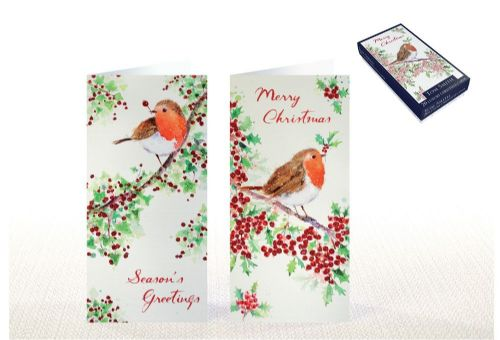 20 Luxury Christmas Cards Robin
